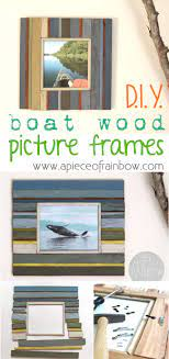 picture frames from fence wood