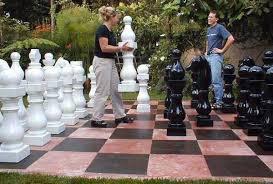 garden chess set. Outdoor Chess Sets Garden Set