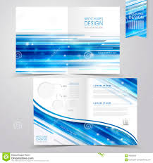 Abstract Technology Background Design For Half-fold Brochure Stock ...