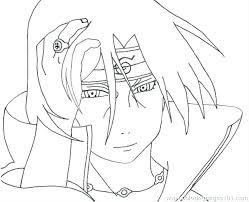 Naruto Coloring Pages Coloring Page Naruto Coloring Pages Sasuke