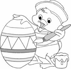 Print Little Duck Coloring Easter Egg Coloring Pages For