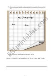 Shopping List Esl Worksheet By Evessin
