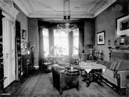 German Empire old fashioned living room with furniture from