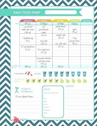 Diet And Exercise Journal Printable Food And Exercise Journal Template Weekly 7 Best Images On