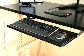 keyboard holder for desk computer desk with adjule keyboard tray keyboard tray on our black standing