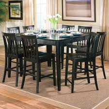 dining room dining room black pines counter height table set gloss furniture bar tables with bench
