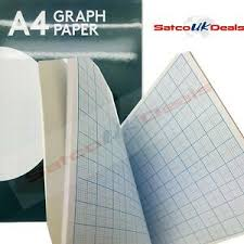 Details About Grid Graph Paper A4 Notepad Square Margin Office School Math Excercise Book Uk