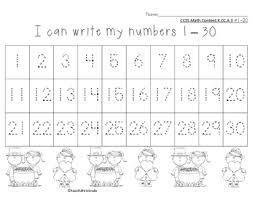 Number Chart 1 30 St Patricks Theme