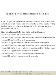 hair stylist assistant. top 8 hair stylist assistant resume samples ...
