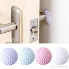 hot door wall protector self adhesive crash pad door handle per rubber guard stopper whole affordable wall decals airplane wall decals from