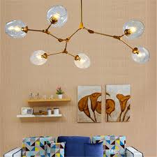 new lindsey adelman globe branching bubble chandelier glass chandelier suspension hanging pendant light glass pendant lamp 1 5 7 8 heads designer pendant