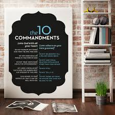 the ten commandments art print of exodus 20