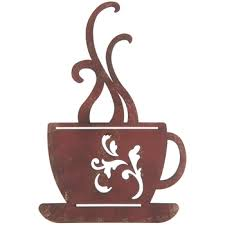 red metal coffee cup wall decor hob lob 1120674 with regard to incredible house metal coffee cup wall decor designs