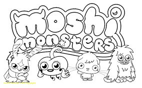 Moshi Monsters And Moshlings Coloring Pages