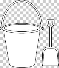 Bucket Coloring Book Sand Shovel Of A Bucket Png Clipart Free