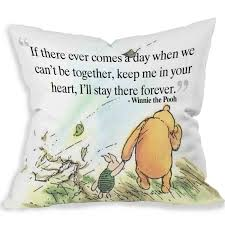 Cartoon Cute Love Quote Winnie The Pooh Decorative Polyester Pillow Case 18 X 18 Two Sides