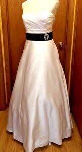 Details About Alfred Angelo Formal Bridal Dress Gown White With Black Size 6 8 Or 10 Prom
