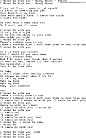 Love Song Lyrics for:I Wanna Be With You - Mandy Moore