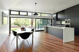 recessed sliding glass door kitchen sliding door design kitchen contemporary with clerestory windows full height cabinets