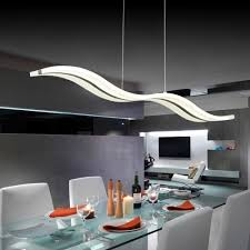 dining room light fixtures modern. LightInTheBox Acrylic LED Pendant Light Wave Shape Chandeliers Modern Island Dining Room Lighting Fixture With Max 40W Chrome Finish 3400 LM Fixtures G