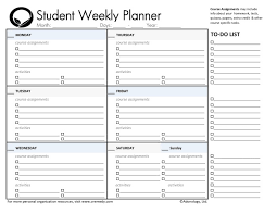 Student Daily Planner With Subjects Student Planner With Subjects Rome Fontanacountryinn Com