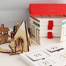 wooden train and railway advent calendar previous