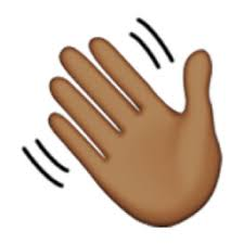 Image result for hand wave emoji