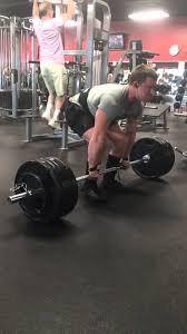 455x4 deadlift stiff bar at atc fitness