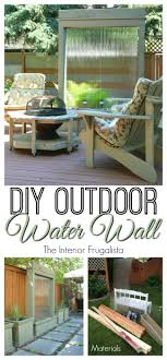 diy outdoor water wall for under 300