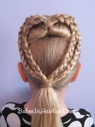2 Braided Hearts Valentine S Day Hairstyle From Babesinhairland