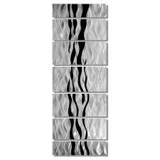 wild ways silver and black modern metallic wall hanging intended for recent rectangular metal wall on rectangular metal wall art with displaying gallery of rectangular metal wall art view 10 of 20 photos
