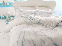 3 pieces ocean tears cotton single duvet cover set 160 x 220 cm light blue