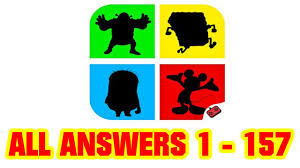 shadow quiz game cartoons all level answers 1 157 goxal studio you