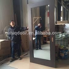 modern mirrored one side gl barn doors for bathroom