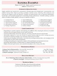 areas of expertise for customer service customer service resume summary examples luxury customer