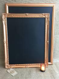 Kitchen Message Board Large Copper Rose Gold Chalk Board Copper Blackboard Framed