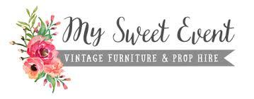 vintage furniture logo. Logo My Sweet Event Vintage Furniture