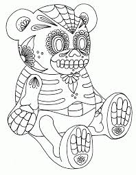 Printable Adult Coloring Pages Sugar Skull - Coloring Home
