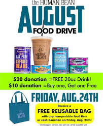Food Drive Posters Summer Food Drive The Human Bean