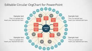 org charts templates flat design circular org chart template slidemodel