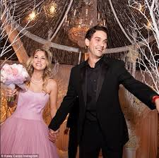 blushing bride the television star and the tennis pro were the picture of happiness as