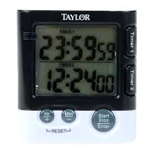 taylor kitchen timer with the dual event digital kitchen timer you can time two events simultaneously