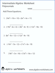 factoring equations intermediate algebra worksheet a polynomials binomials worksheets pdf with answers