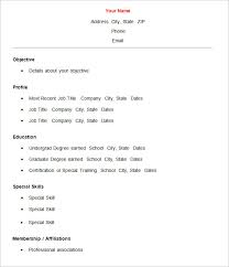 Resume Template Basic Basic Resume Template 51 Free Samples Examples Format  Template