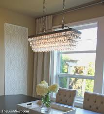 delightful rectangular glass drop chandelier 44 room chandeliers