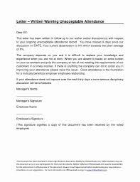 Hr Warning Letter First Warning Letter Sample Nz Valid Employees Warning Letter
