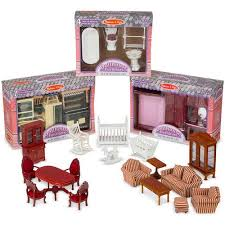 cheap wooden dollhouse furniture. Melissa \u0026 Doug Classic Victorian Wooden And Upholstered Dollhouse Furniture (35 Cheap