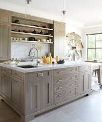 Restain Oak Kitchen Cabinets Gorgeous Gray Stained Birch Cabinets With White Countertops KITCHEN