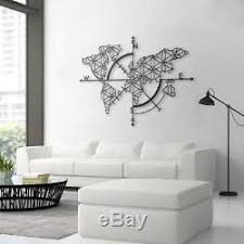 Unique Design Metal World Map Wall Art Wall Decor For Home