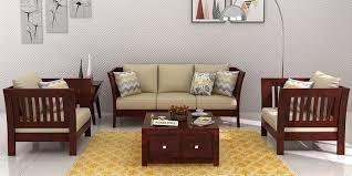 wooden sofa set 3 1 1